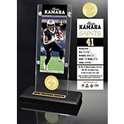 Highland Mint New Orleans Saints Alvin Kamara Ticket Coin Desktop Display