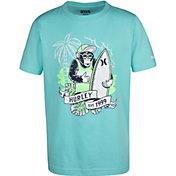 Hurley Boys' Chimp Pan Sea Short Sleeve T-Shirt