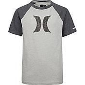 Hurley Boys' Icon Marled Raglan Short Sleeve T-Shirt