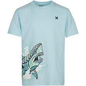 Hurley Boys' Tribal Shark Wrap T-Shirt
