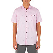 Hurley Men's Organic Wind and Sea Short Sleeve Button Down Shirt