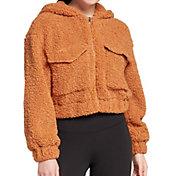 Hurley Women's Front Zip Babo Fur Bomber Jacket