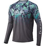 HUK Men's Icon X KC Refraction Camo Fade Long Sleeve Fishing Shirt