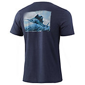 HUK Men's KC Passing Front Graphic T-Shirt