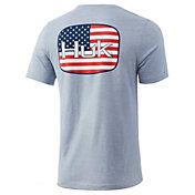 HUK Men's American Badge Graphic T-Shirt