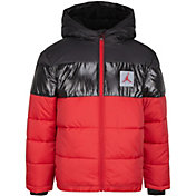 Jordan Boys' Bold Stripe Full-Zip Puffer Jacket
