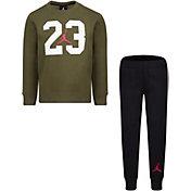 Jordan Little Boys' Textured 23 Fleece Crewneck Sweatshirt and Jogger Pants Set
