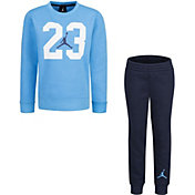 Jordan Little Boys' Textured 23 Fleece Crewneck Sweatshirt and Jogger Pants Set