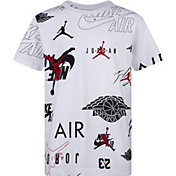 Jordan Boys' Jumpman Printed Multi Logo T-Shirt