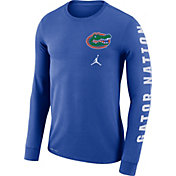 Jordan Men's Florida Gators Blue 'Gator Nation' Mantra Long Sleeve T-Shirt