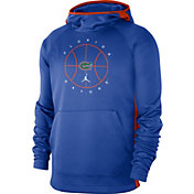 Jordan Men's Florida Gators Blue Spotlight Basketball Pullover Hoodie