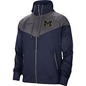 Nike Men's Michigan Wolverines Blue Windrunner Jacket