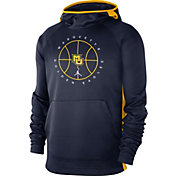 Jordan Men's Marquette Golden Eagles Blue Spotlight Basketball Pullover Hoodie