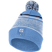 Nike Men's North Carolina Tar Heels Carolina Blue Football Sideline Cuffed Pom Beanie