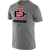 Jordan Men's San Diego State Aztecs Grey Basketball Legend T-Shirt