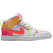 Jordan Kids' Preschool Air Jordan 1 Mid Edge Glow Shoes