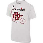Jordan Youth San Diego State Aztecs Bench White T-Shirt