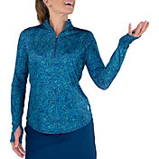 Jofit Women's Mock Neck Long Sleeve Golf Pullover