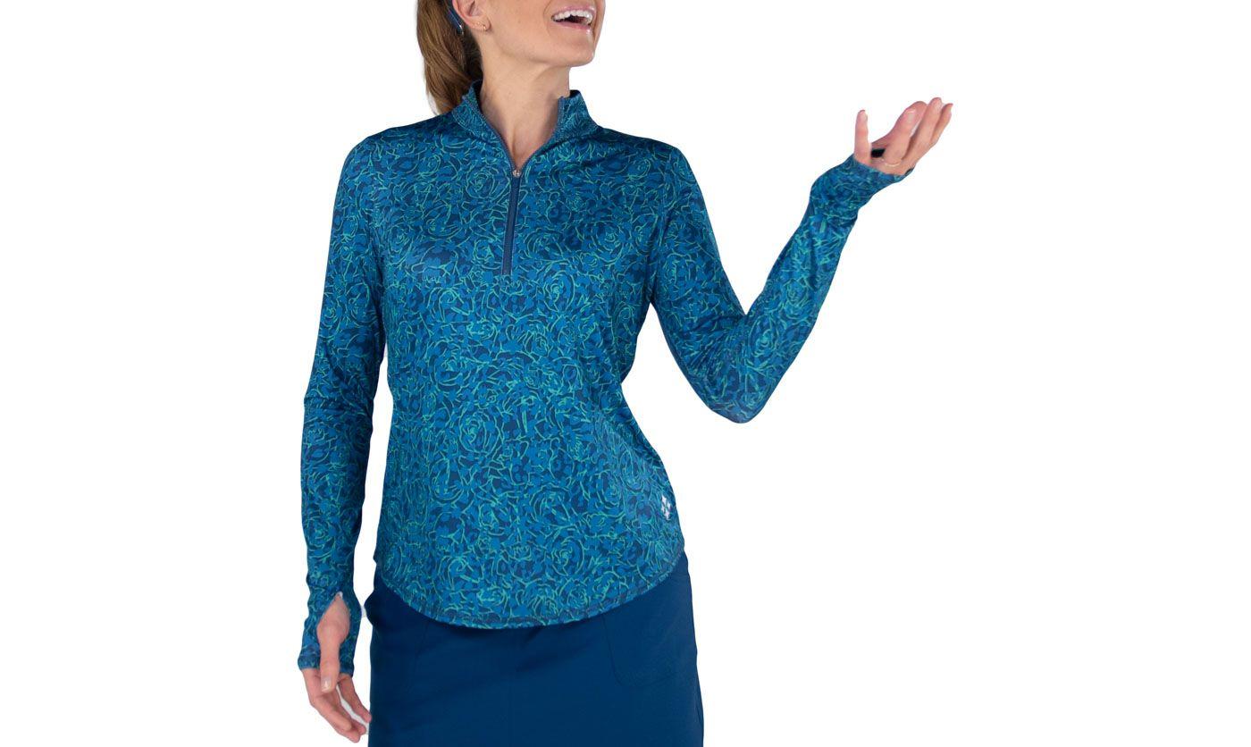 Jofit Women's Mock Neck Long Sleeve Golf Pullover