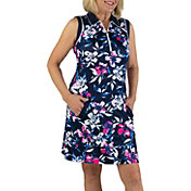 Jofit Women's Floral Sleeveless Polo Golf Dress