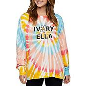 Ivory Ella Women's Daisy Swirl Tie-Dye Oversized Long Sleeve T-Shirt