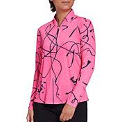 Jamie Sadock Women's Squiggle Sunsense Golf Pullover
