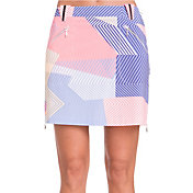 Jamie Sadock Women's Geo Print Side Zip Golf Skort