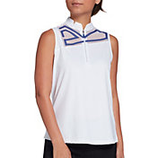 Jamie Sadock Women's Mesh Abstract Sleeveless Golf Polo