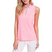 Jamie Sadock Women's Textured Sleeveless Racerback Golf Polo