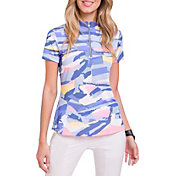 Jamie Sadock Women's Jenga Print Short Sleeve Golf Polo