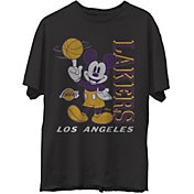 Junk Food Men's Los Angeles Lakers Disney Vintage Mickey Baller Black T-Shirt