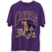 Junk Food Men's Los Angeles Lakers Purple Disney Vintage Mickey Squad T-Shirt