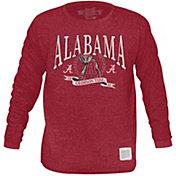Original Retro Brand Men's Alabama Crimson Tide Crimson Tri-Blend Long Sleeve T-Shirt