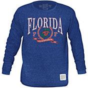 Original Retro Brand Men's Florida Gators Blue Tri-Blend Long Sleeve T-Shirt