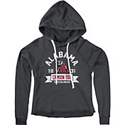 Original Retro Brand Women's Alabama Crimson Tide Grey Cropped Hoodie