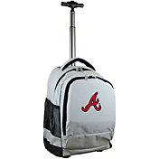 Mojo Atlanta Braves Wheeled Premium Grey Backpack
