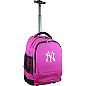 Mojo New York Yankees Wheeled Premium Pink Backpack