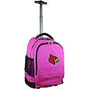 Mojo Louisville Cardinals Wheeled Premium Pink Backpack