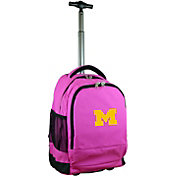 Mojo Michigan Wolverines Wheeled Premium Pink Backpack