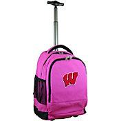 Mojo Wisconsin Badgers Wheeled Premium Pink Backpack