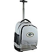 Mojo Green Bay Packers Wheeled Premium Grey Backpack