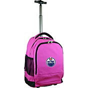 Mojo Edmonton Oilers Wheeled Premium Pink Backpack