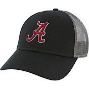 League-Legacy Men's Alabama Crimson Tide Lo-Pro Adjustable Trucker Black Hat