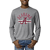 League-Legacy Men's Alabama Crimson Tide Grey Reclaim Tri-Blend Long Sleeve T-Shirt