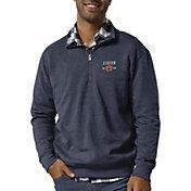 League-Legacy Men's Auburn Tigers Blue Heritage Quarter-Zip Shirt