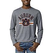 League-Legacy Men's Auburn Tigers Blue Reclaim Tri-Blend Long Sleeve T-Shirt