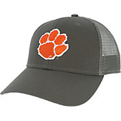 League-Legacy Men's Clemson Tigers Grey Lo-Pro Adjustable Trucker Hat