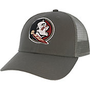 League-Legacy Men's Florida State Seminoles Grey Lo-Pro Adjustable Trucker Hat