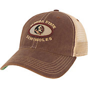 League-Legacy Men's Florida State Seminoles Garnet Old Favorite Adjustable Trucker Hat