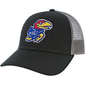 League-Legacy Men's Kansas Jayhawks Lo-Pro Adjustable Trucker Black Hat